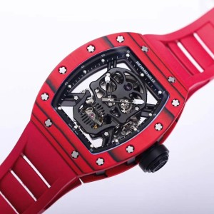 Richard Mille RM052 Red Forged Carbon Black Skull Dial REPLICA 1-1 CAO CẤP